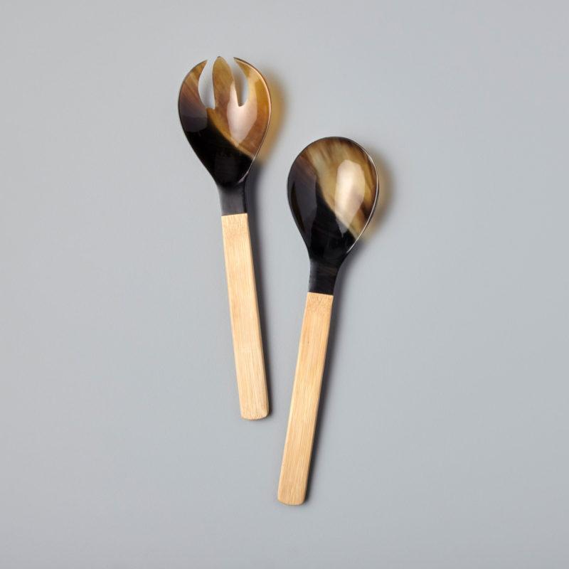 Horn & Bamboo Serving Set