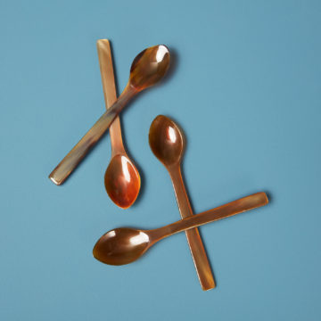 Horn Spoons Large, Set of 4