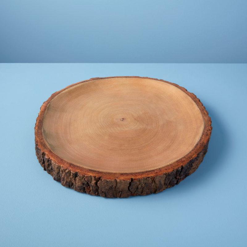Mango Wood Platter with Bark