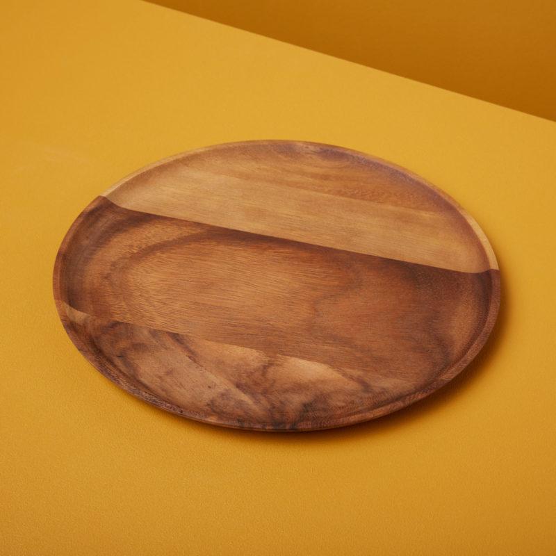 Acacia Round Plate Medium