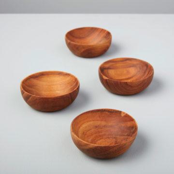 Teak Round Bowls, Set of 4