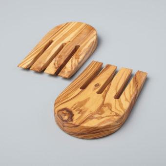Olive Wood Square Coasters, Set of 4
