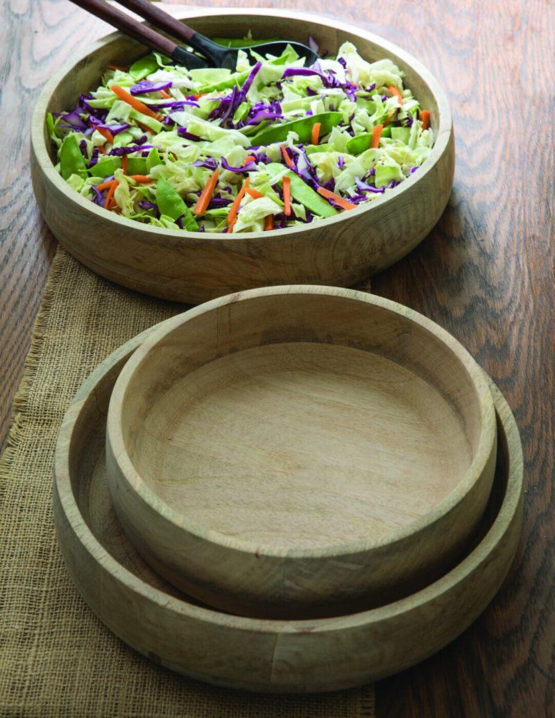 Raw Natural Mango Wood  Serving Bowls, Set of 3