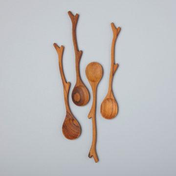 Teak Twig Spoons, Set of 4