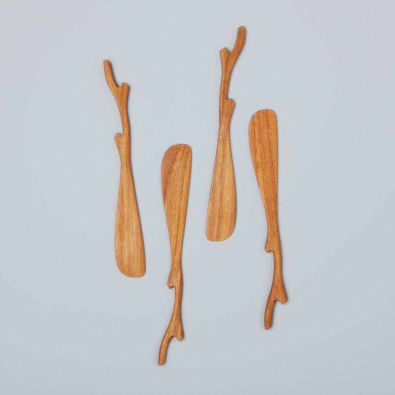 Teak Twig Spreaders, Set of 4