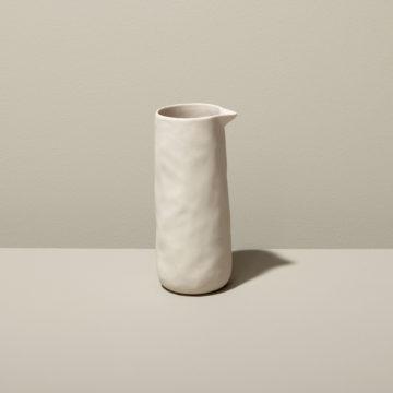 Stoneware Pouring Carafe, White