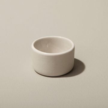 Stoneware Round Cellar White