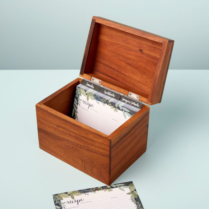 ASSEMBLY PART (for 41-22 SET) Acacia Recipe Box