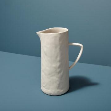 Stoneware Pitcher, White