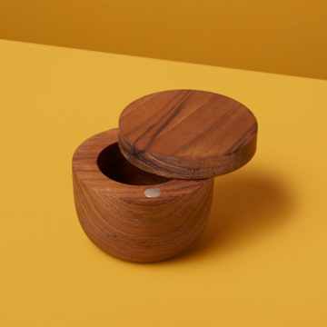 Teak Cellar with Pivoting Lid, Small