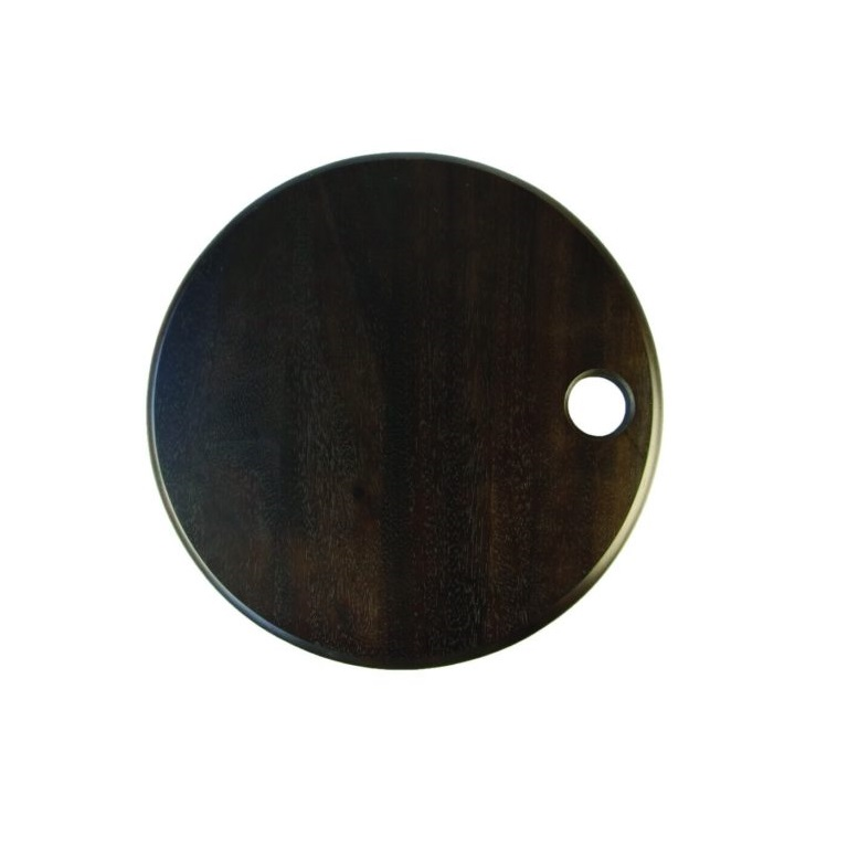 Acacia Round Board with Black Stain