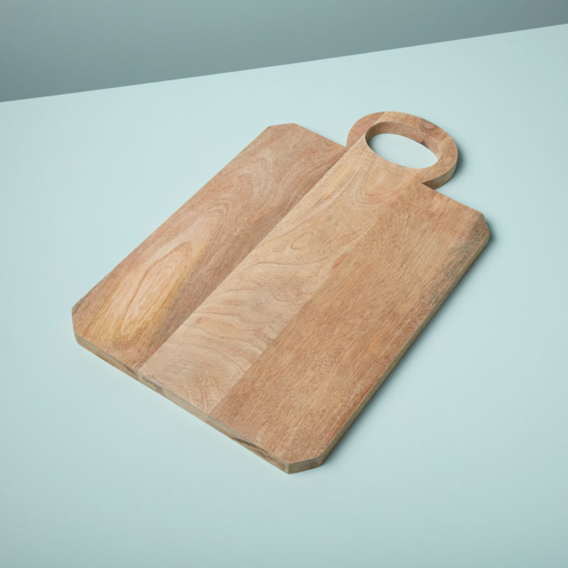 Raw Natural Mango Wood Board with Round Handle