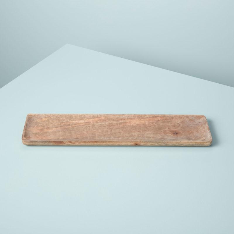 Raw Natural Mango Wood Rectangular Tray