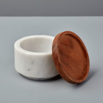 White Marble & Wood Cellar