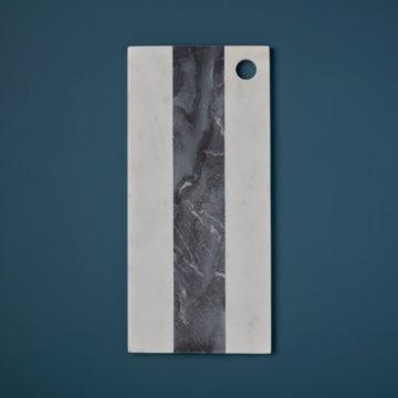 White & Gray Marble Rectangular Board, Large