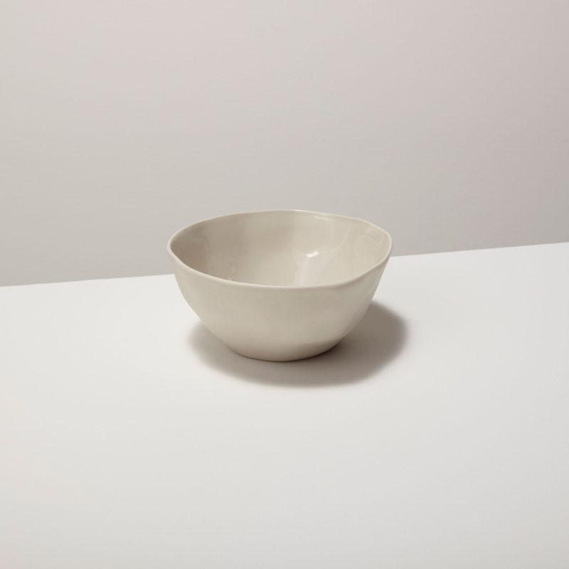 Stoneware Bowl, White, Small