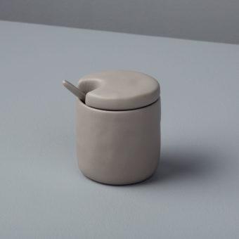 Stoneware Cellar & Spoon, Slate