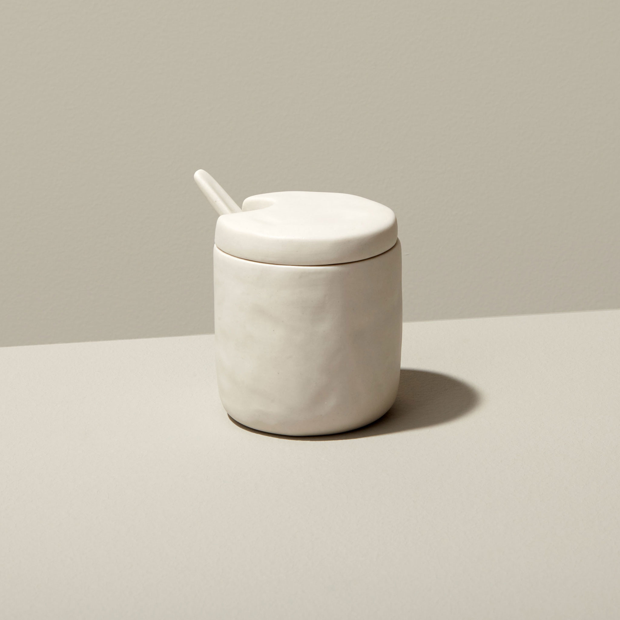 Be-Home_Stoneware-Cellar-and-Spoon-White_64-68