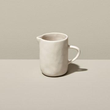 Stoneware Creamer, White