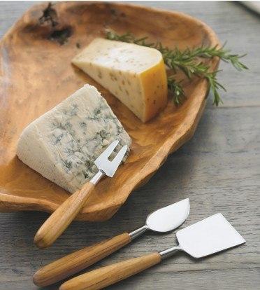 Teak & Stainless Cheese Set