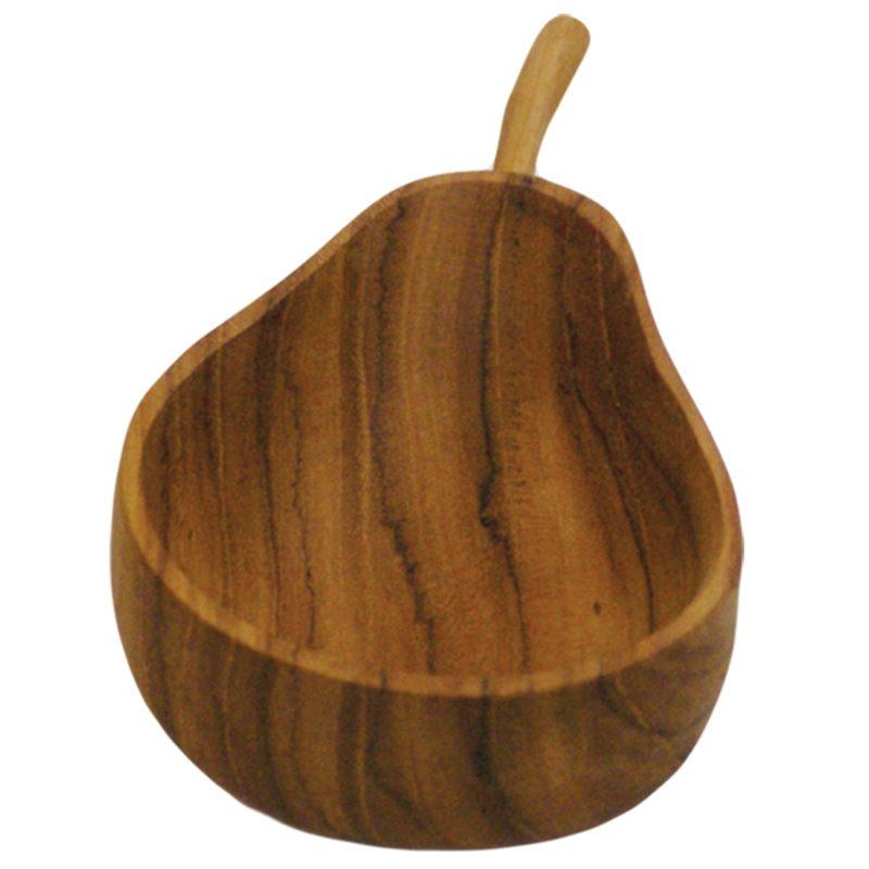 Teak Pear Bowl