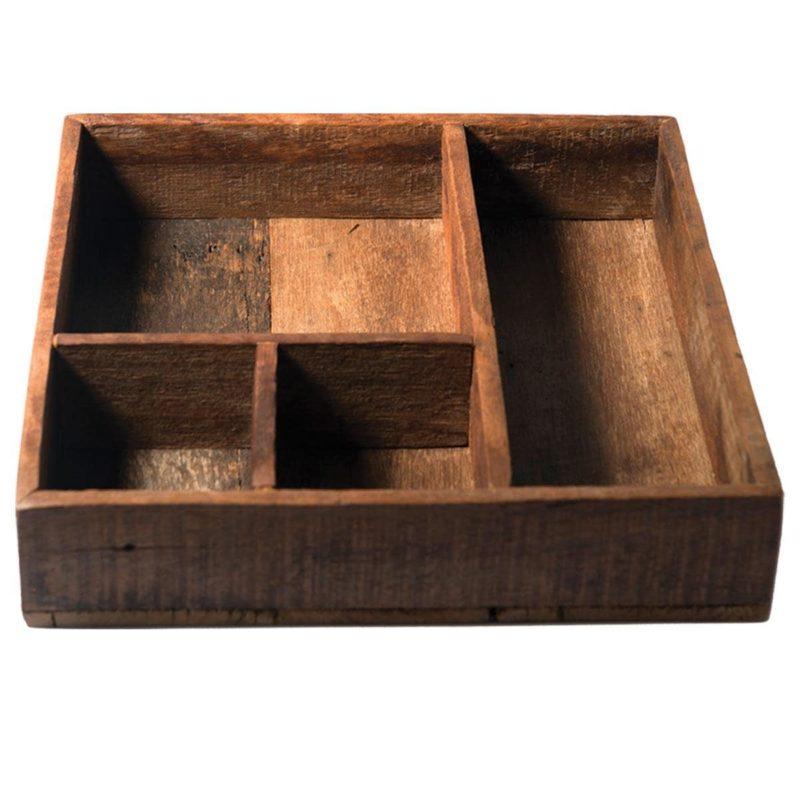 Reclaimed Wood Organizer Tray