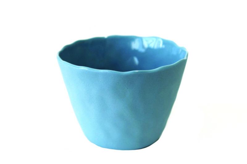 Stoneware Tumbler Blue, Large