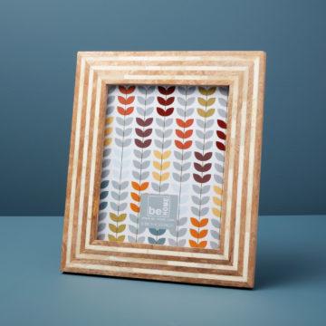 Wood and Bone Striped Frame, 8″ x 10″