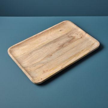Raw Natural Mango Wood Rectangular Tray, Extra Large