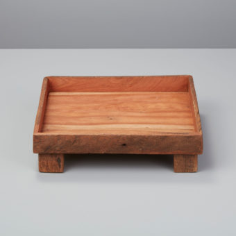 Reclaimed Wood  Rectangular Footed Tray, Small