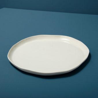 Stoneware Flat Plate Sterling, Large