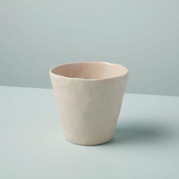 Stoneware Planter, White, Small