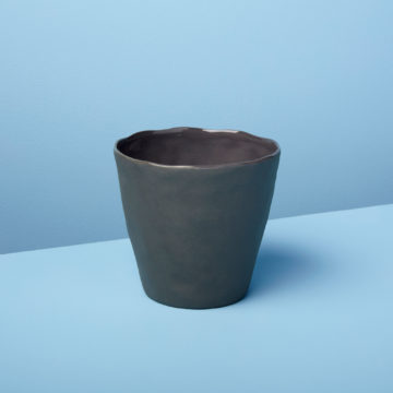 Stoneware Planter, Slate , Small