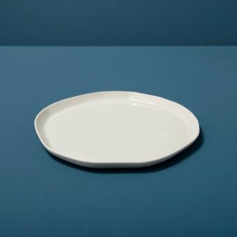 Stoneware Flat Plate Slate, Large