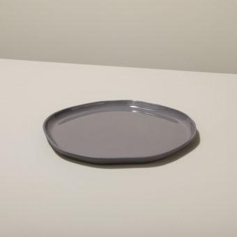 Stoneware Flat Plate Sterling, Medium