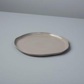 Stoneware Flat Plate White, Medium