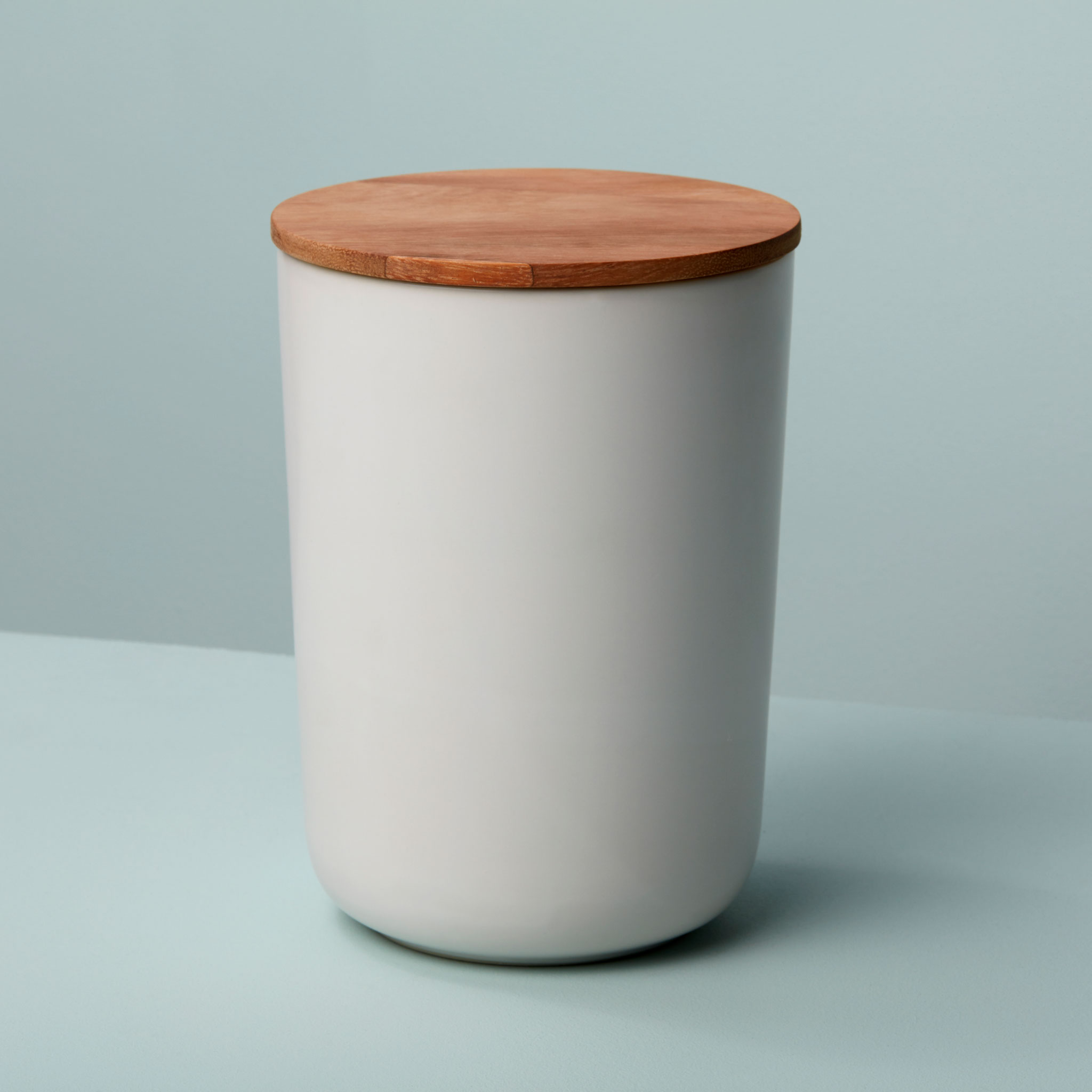 Be-Home_Stoneware-and-Acacia-Canister-Extra-Large-White_52-11WH