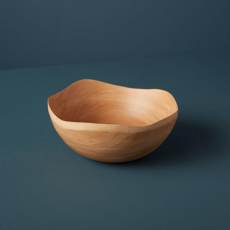 Kiln Mango Wood Wave Edge Bowl, Medium