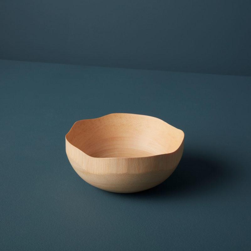 Kiln Mango Wood Wave Edge Bowl, Small