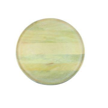 Natural Mango Wood Round Tray XL