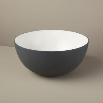 Aluminum & Enamel Bowl, Medium