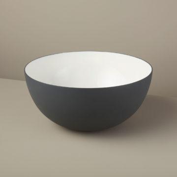 Aluminum & Enamel Bowl, Large