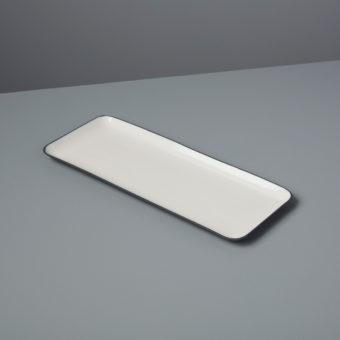 Aluminum & Enamel Rectangular Platter, Large