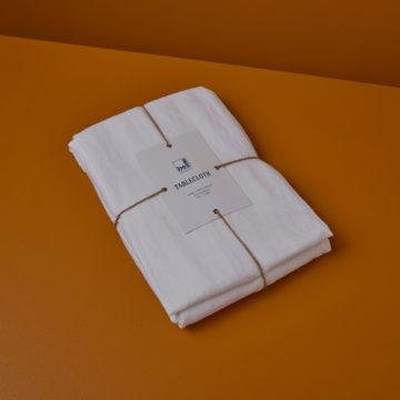 Linen Tablecloth White