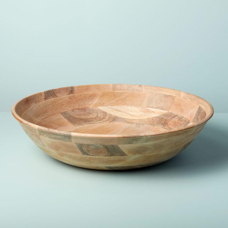 Raw Natural Mango Wood Round Bowl, Extra Large