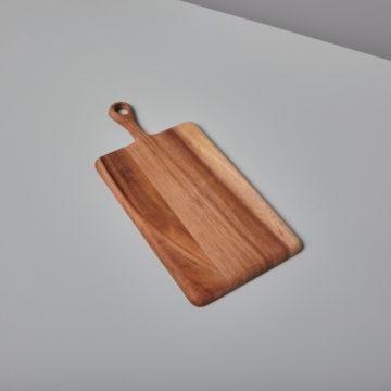 Acacia Rectangular Board with Short Handle, Mini