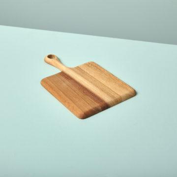 Acacia Square Board with Short Handle Mini