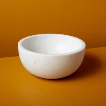 White Marble Bowl, Extra Large