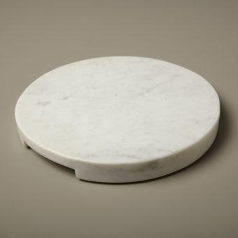 White Marble Round Coasters, Set of 4