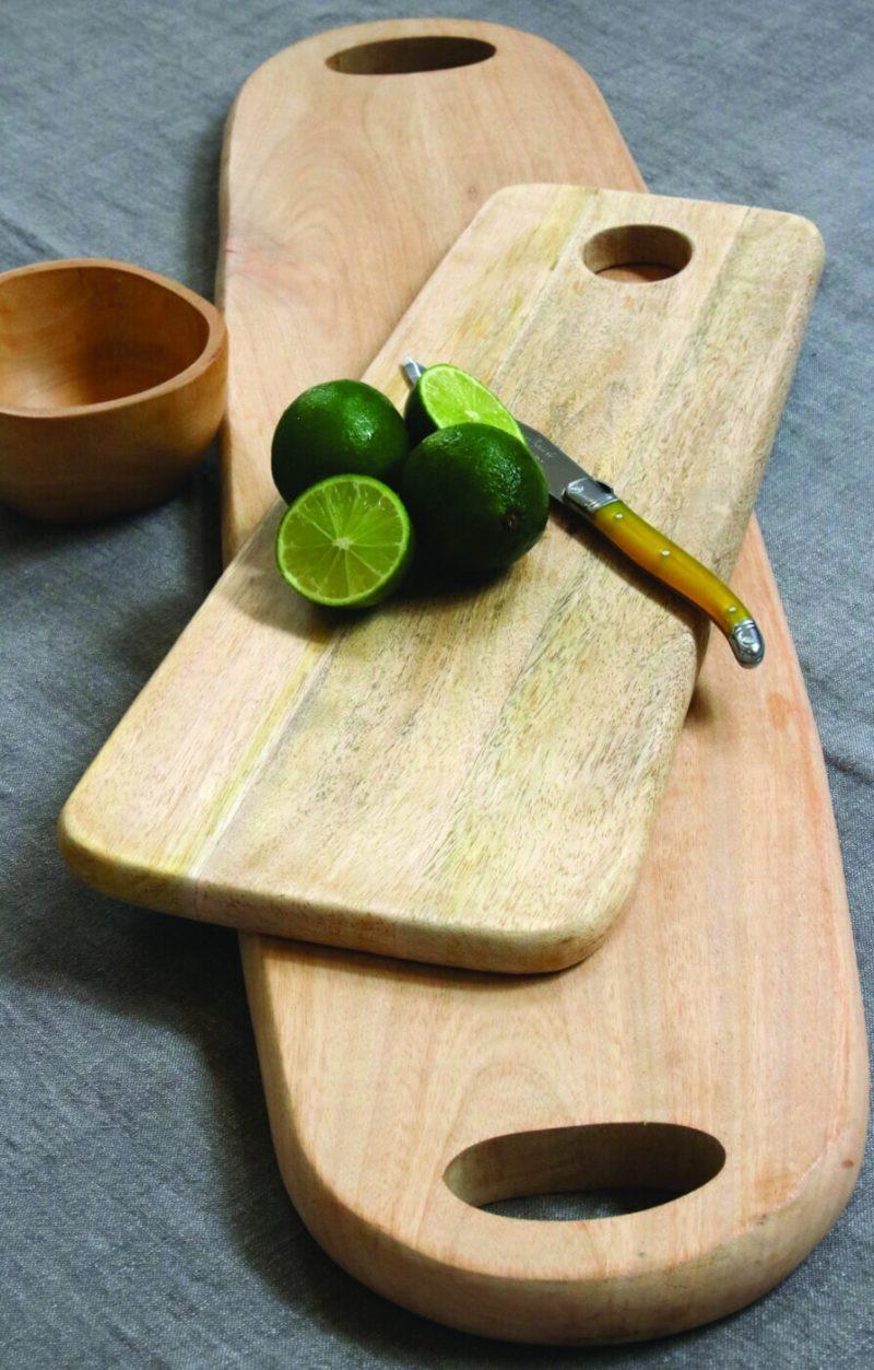 Raw Natural Mango Wood Long Oval Board